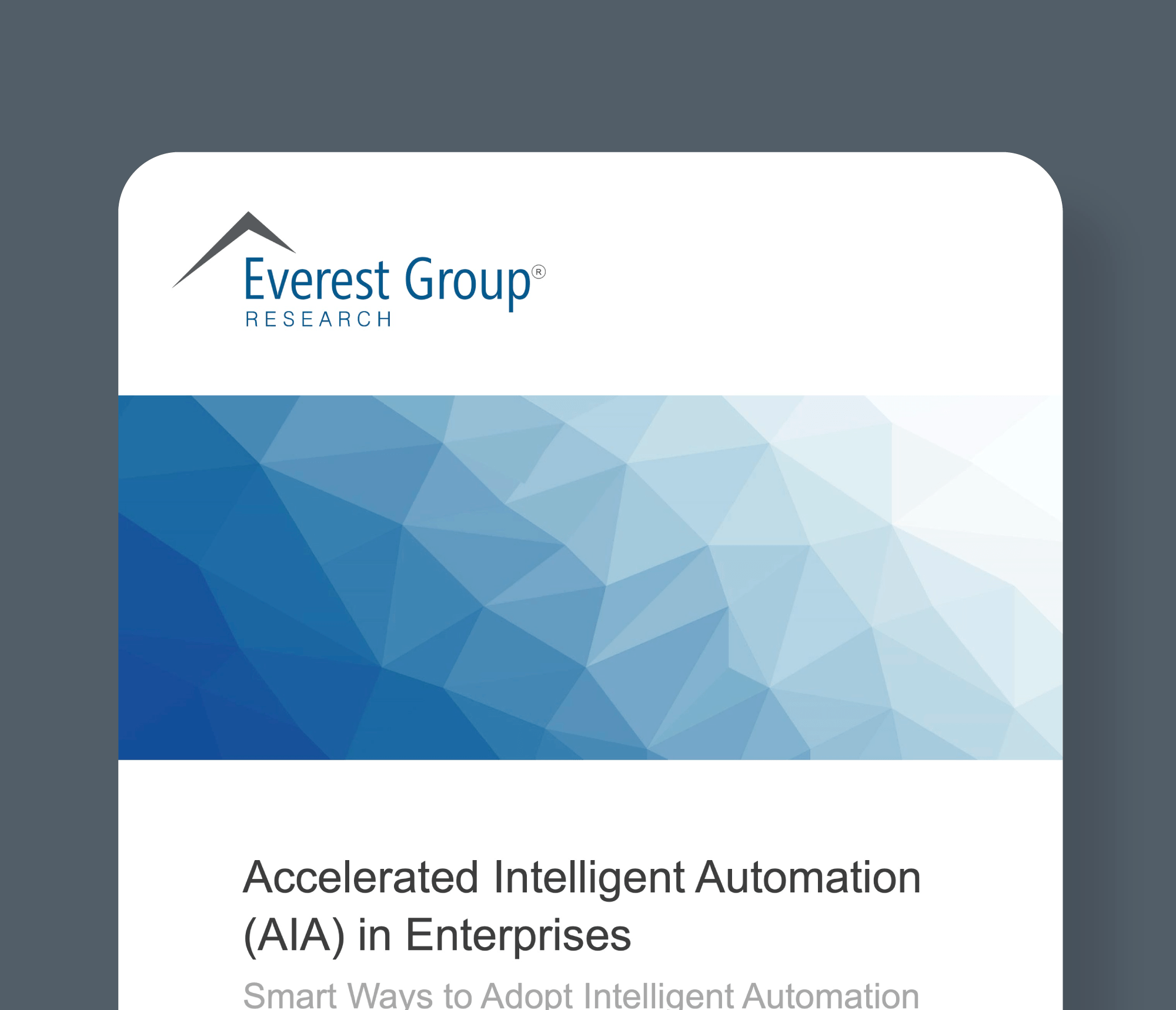 everest accelerated intelligent automation
